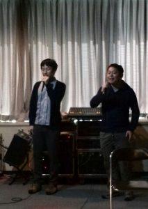 会計事務所酒井さん、伝田さんによる熱唱