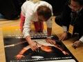 当日看板に寺内さんのサインを頂く。