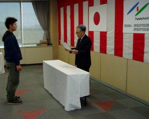 学園長表彰 宮澤司さん