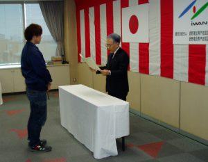 長野県職業能力開発協会長表彰 松澤星河さん